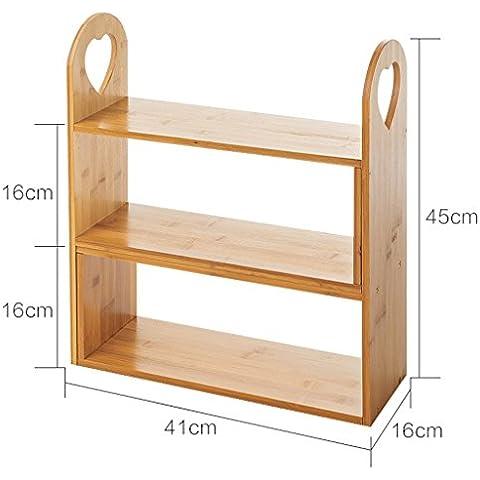 DIY estante de cocina de madera maciza condimento estanterías de almacenamiento en rack de cocina