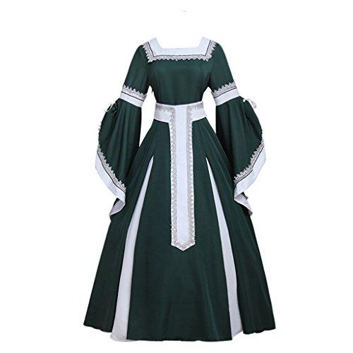 Cosplayitem Mittelalter Kleid Renaissance Viktorianischen Rokoko Kleid Party Kostüm Trompete Ärmel (Fedex Kostüm Halloween)