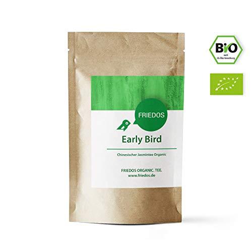 her Grüner Tee Early Bird - blumig runder Geschmack - Bio chinesischer Grüntee Jasmintee 100g ()