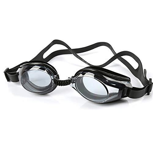 YYXYYX Kinder Schwimmbrille, Wasserdicht und Anti-Fog, Flat Light HD Schwimmbrille,Black -