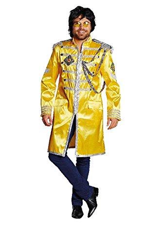 Sgt Pepper's Kostüm (Herren Kostüm Sgt. Pepper Jacke in gelb zu Karneval Fasching)