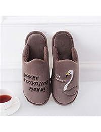 WERTY Pantofole di Cotone per la casa Pantofole di Cotone per la casa Invernale  Pantofole Calde per Gli Uomini… fb6a189a1a5