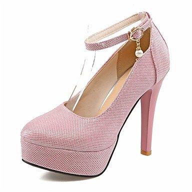 Moda Donna Sandali Sexy donna tacchi Primavera / Estate / Autunno Comfort Glitter Office & Carriera / Party & sera abito / / Casual Stiletto Heel Silver