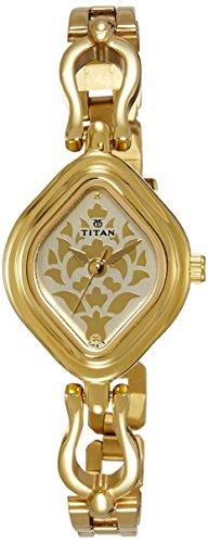 41kI7U4fXaL - Titan 2536YM03 Gold Women watch