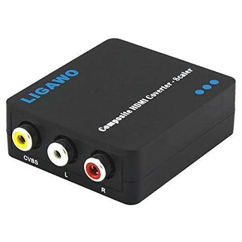 Ligawo ® Konverter Composite zu HDMI aktiv mit Skalierung auf