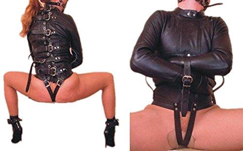 Liebezärt Leder Keuschheit Zwangsjacke Kostüm Bdsms Spielzeug Für Männer Frauen