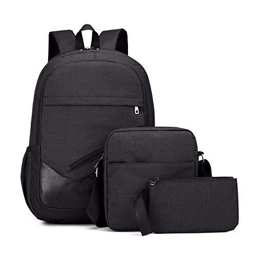 Shoulder Bags Umhängetasche Multifunktions Oxford Tragbarer Lässige Doppel Schultern Schultasche Reise Backpackage Tasche (Schwarz) (Farbe : Black) -