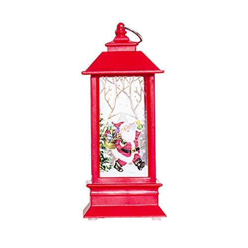 rzenHalter Ornamente WeihnachtsBeleuchtung Candlestick Handwerk zu Hause Dekor Haus Dekoration - Weihnachts-kreative Licht Anhänger, Elch, Weihnachtsmann, Schneemann ()