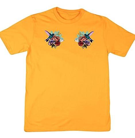Hippowarehouse Herren T-Shirt, gelb, 120762-DTG-UT-YM