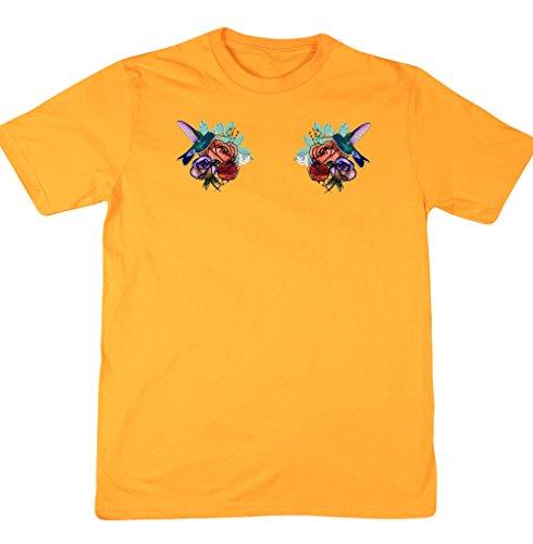 hippowarehouse-t-shirt-homme-jaune-
