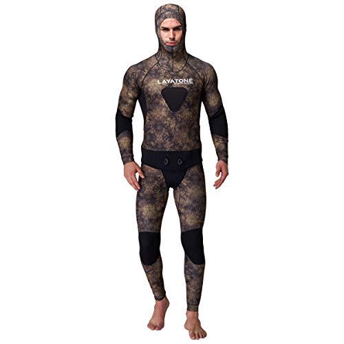 LayaTone Man Spearfishing Premium 5mm Camouflage Wetsuits Combinaison en néoprène pour plongée sous-Marine Natation Chasse sous-Marine