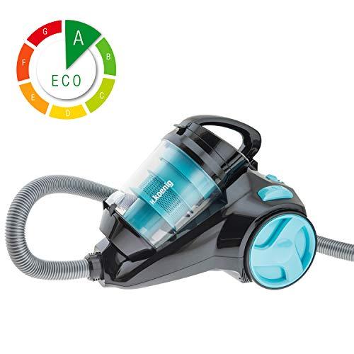 H.Koenig SLC85 - Aspirador sin bolsa multiciclónico silencioso +, Especial para Mascotas,...