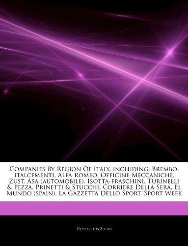 articles-on-companies-by-region-of-italy-including-brembo-italcementi-alfa-romeo-officine-meccaniche