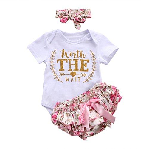 Counjunto Ropa bebé niña Verano Recién Nacido bebé