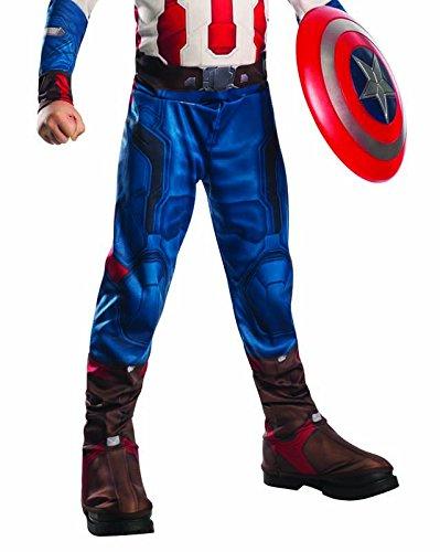 Imagen de avengers  disfraz de capitán america age of ultron, con escudo, para niños, talla m rubie's 620434 m  alternativa