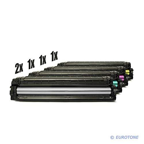 Preisvergleich Produktbild 5X Eurotone Toner für Samsung CLX 4195 FW FN N Premium Line ersetzt CLT-504S