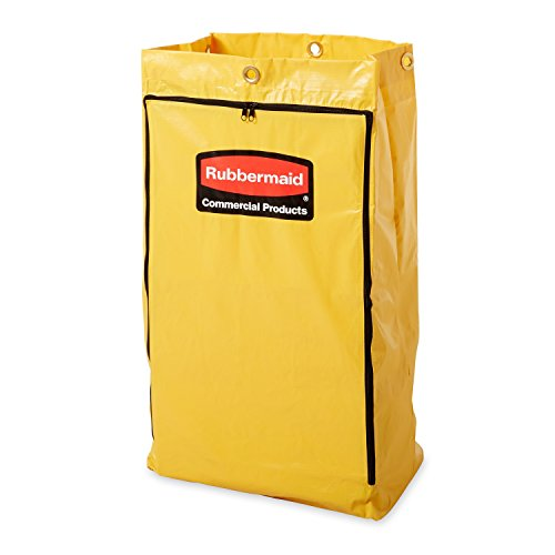 Rubbermaid Vinyl Replacement Bag with Zipper for Cleaning Cart - Yellow