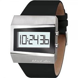 Black Dice BD 057 01 - Reloj digital de cuarzo para hombre con correa de piel, color negro de Black Dice