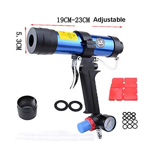 Neue Ankunft Pneumatische Kartuschenpistole Set 310 ML Glaskleber Air Rubber Guns Werkzeug Harte Klebepistole Mit Uhr Ventil 19 CM-23 cm Einstellbar