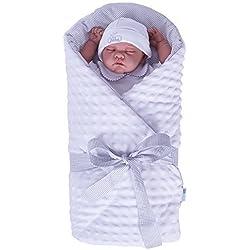 Sevira Kids–Saco para bebé Minky–Color blanco