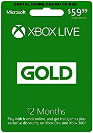 Xbox Live 12 Months GOLD Subscription