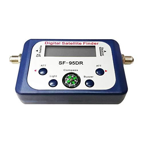 Att-tv (Digitalanzeige Satellitensucher-Messgerät Satfinder TV-Signalempfänger Decoder Satlink-Empfänger Summer Kompass LCD-FTA-Schüssel)