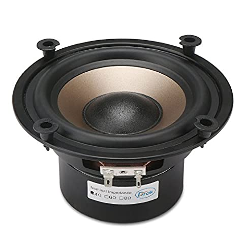 DROK® 5.25-inch 40W HIFI Subwoofer Speakers, 4Ω Double Magnetic Low-pitched Loudspeaker with Super Low Bass, Home Woofer Stereo Speakers with 87dB High Sensitivity, Anti-magnetic Audiophile