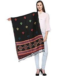 HK Colors Of Fashion Traditional Kashmiri Multi Color Border Stole