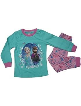 Frozen - Die Eiskönigin Schlafanzug türkis 122 128 134 140 (fällt klein aus)