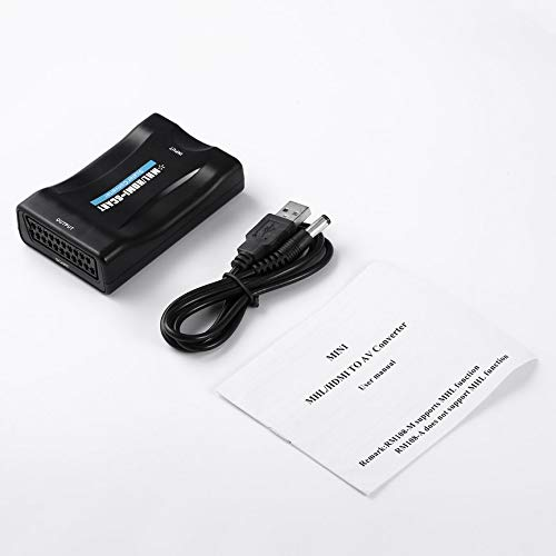 HD 1080P HDMI to SCART Video Audio Adapter Universal Converter Adapter for HD TV DVD Box Low Power Consumption