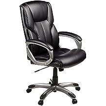 AmazonBasics - Sedia da ufficio, con rotelle, a schienale alto