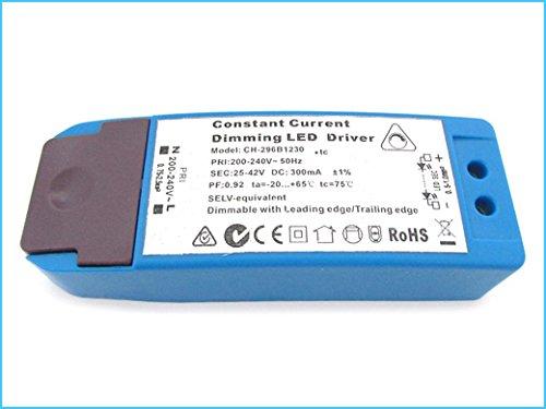 Led Driver CC Dimmerabile Con Triac Dimmer 300mA 25V-42VDC 12W Alimentatore Corrente Costante