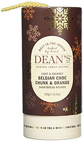 Dean's Chocolate Chunk and Orange Shortbread Rounds Tube 150 g