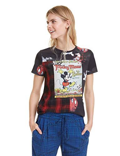 Desigual Damen Micky Maus T-Shirt, Schwarz (Negro 2000), X-Large (Herstellergröße: XL)