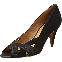 Schmoove Damen Odissey Cross Peep-Toe Pumps, Noir (Nero/Nero), 38 EU