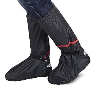 Regenüberschuhe Wasserdicht Schuh (1Paar), Aissy Unisex Wasserdicht Überschuhe, rutschfester Schuhüberzieher, Optimal vor Regen, Schnee und Matsch geschützt,Vier Größe in der Wahl, Schwarz (S)