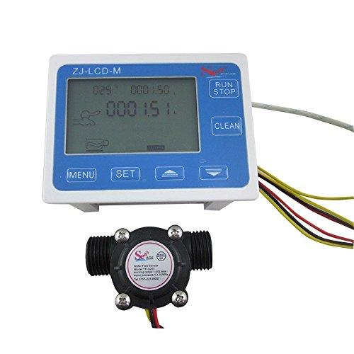 digiten G1/2'flujo de agua Sensor Meter + Digital pantalla LCD cuantitativos Control 1–30L/min