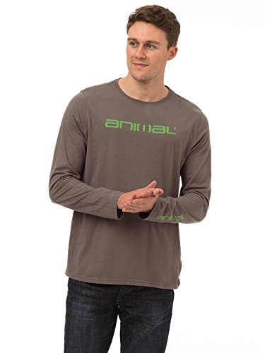 Animal Long Sleeve T-shirts - Animal Utako Long Sleeve T-shirt - White Pewter Grey