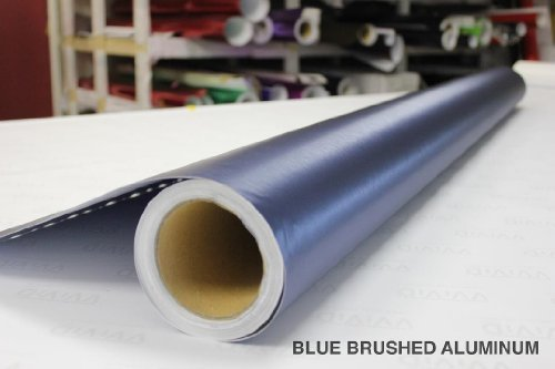 """VViViD Blue Brushed Anodized Aluminum 3"""" x 4"""" inch Sample Vinyl Wrap with Air"""