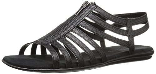 Aerosoles Chlothesline Breit Synthetik Gladiator Sandale Black Snake