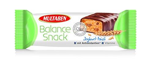 Multaben Balance Snack Joghurt-Müsli Energieriegel, Energy Bar mit Antioxidantien und Vitaminen, Snackriegel mit  Joghurt-Müsli Geschmack