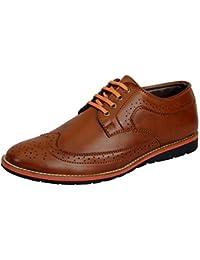 FAUSTO Men's Formal Brogue Shoes