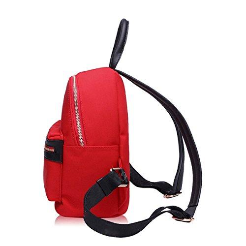 Damen Schultertasche Einfache Freizeit Reise Rucksack Oxford Tuch Tasche Green