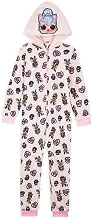 L.O.L. Surprise! Pijama Niña de Una Pieza, Pijama Unicornio Niña con Muñecas LOL OMG, Pijama Niña Invierno For