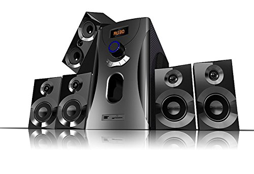 auvisio Heimkinoanlage: Home-Theater Surround-Sound-System 5.1, 160 Watt, MP3, Radio, schwarz (Surround Anlage)