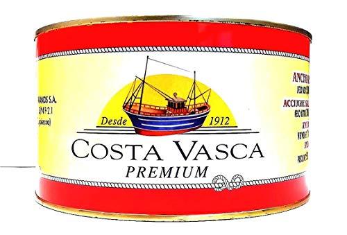 COSTA VASCA - Acciughe Salate Mar Cantabrico 13/14 Pesci per Strato - 5kg - [1 unitá]