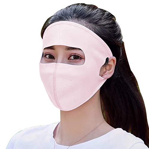 Wodend Sonnenschutzmaske, Gesichtsmundschutz Staubdichte Maske Bunte Männer Frauen Gesicht Schild (Korallrot)