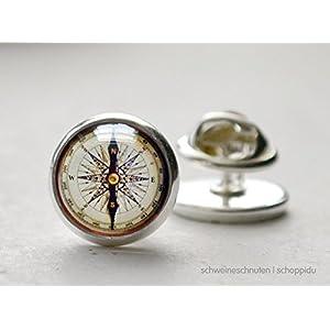 Pin Anstecknadel Kompass antik