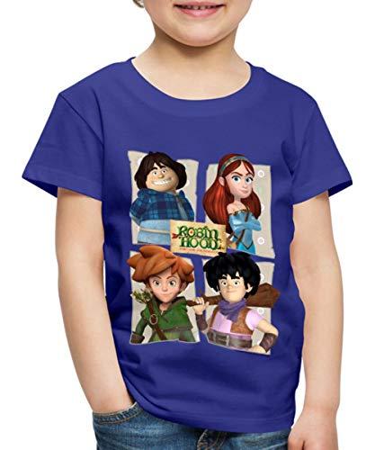 Spreadshirt Robin Hood Tuck Marian Robin Und Little John Kinder Premium T-Shirt, 122/128 (6 Jahre), Königsblau