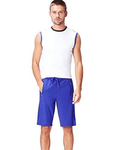 FIND Sportshorts Herren mit Mesh-Einsätzen und Streifen Blau (Cobalt Blue)